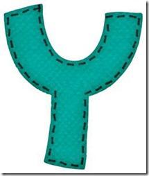 y letras verdes