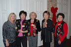 Dianne Stone, Gina Bernasek, June Thrash, Pat Trampe and Betty Runyan Photo provided by Jennifer Ahner