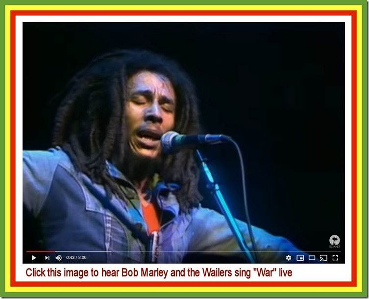Bob Marley & the Wailers singing 'War' live