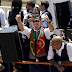 Thousands of fans line up the streets of Lisbon as EURO Champions Portugal touch down with trophy