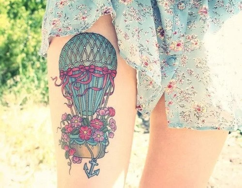 esta_maravilhosamente_florido_de_balo_de_ar_quente_tatuagem