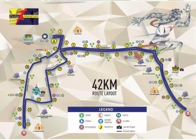 Perlis Full Marathon Route 2017