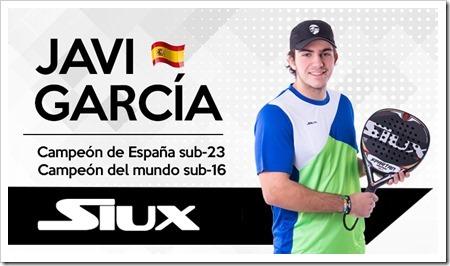 """SIUX ficha a la promesa del pádel internacional, Javi García ampliando su """"cantera"""" #teamsiux."""