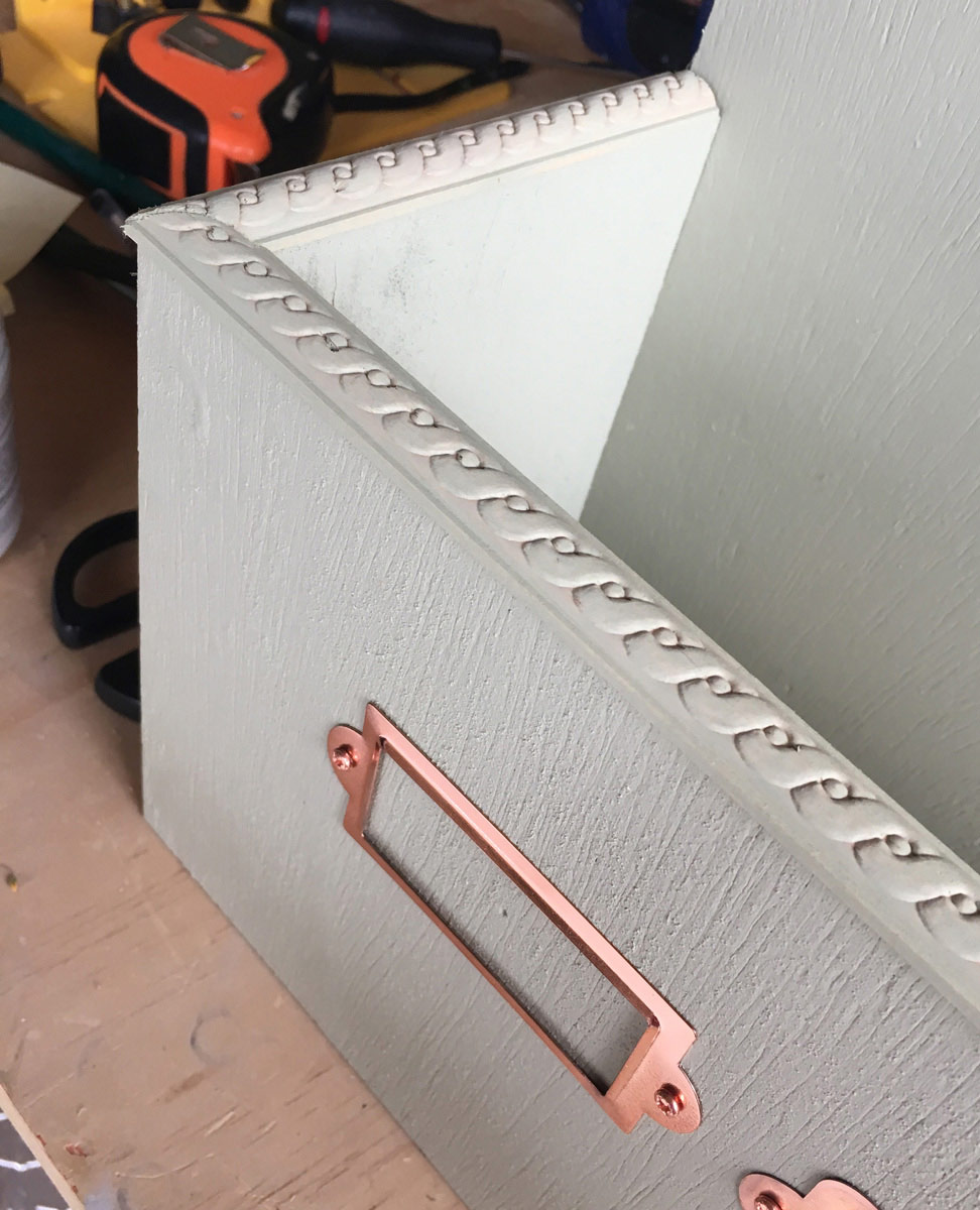 Decorative trim on plant box