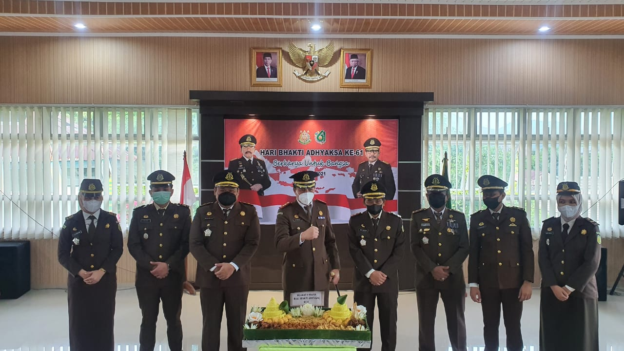 Kejaksaan Negeri Soppeng gelar Puncak HBA Ke-61 Secara virtual