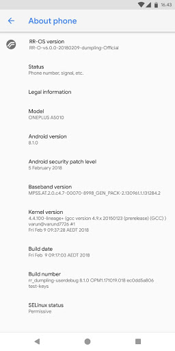 Resurrection Remix Release Oreo 8 1 Based Official Builds