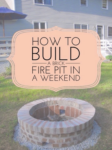 Grace and josie the diy brick fire pit project - Brick houses three beautiful economical projects ...
