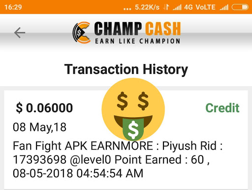 How To Complete Fan Fight apk  Offer In Champ cash?