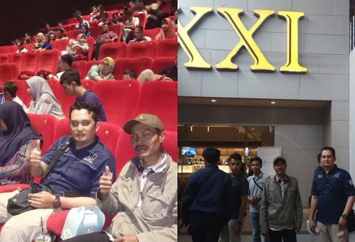Pemutaran Perdana Film 22 Menit, Karena Sukabumi Tidak Punya Bioskop Anggota Polres Sukabumi Nonton di Bogor