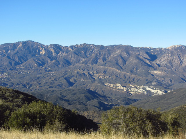 Piedra Blanca and Pine Mountain
