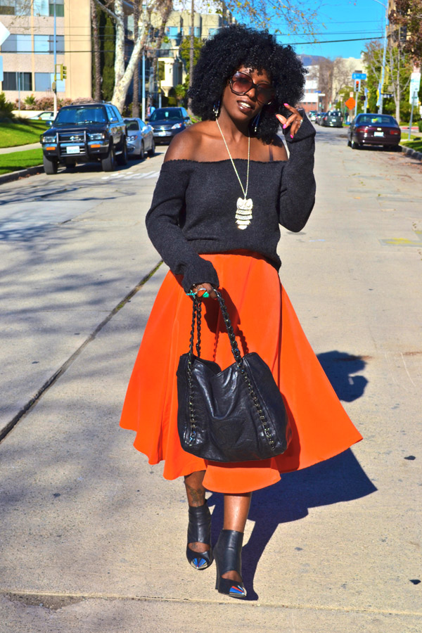 ALL DIFFERENT STYLES OF ORANGE CHIFFON SKIRTS FOR WOMEN 1