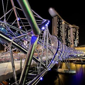 Marina Bay Sands, Singapore by Handoko Lukito - Buildings & Architecture Bridges & Suspended Structures ( city view, bridge, marina bay )