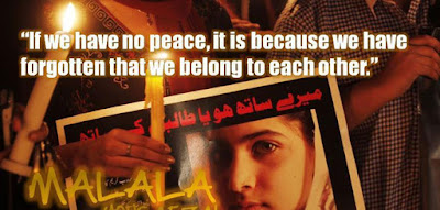 """Malala Yousafzai facebook page"""