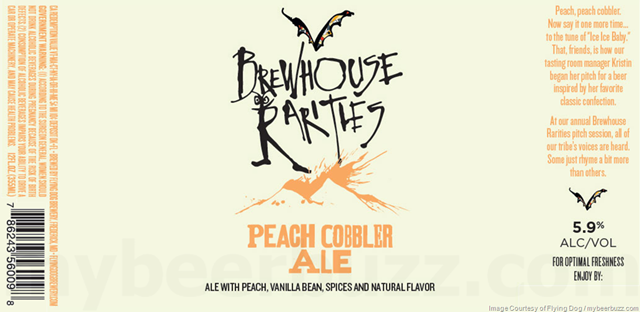 Mybeerbuzz .com Highlights Flying Dog Brewhouse Rarities Peach Cobbler Ale
