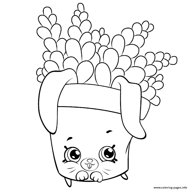 Print Cute Fern To Color Shopkins Season  Coloring Pages