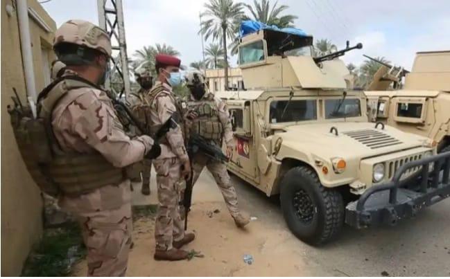 इराक  में अमेरिकी सैनिकों के ठिकाने वाले एक सैन्य बेस पर शनिवार को ड्रोन से हमला