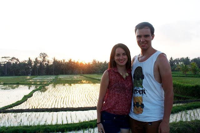 Nosotros en los arrozales de Ubud