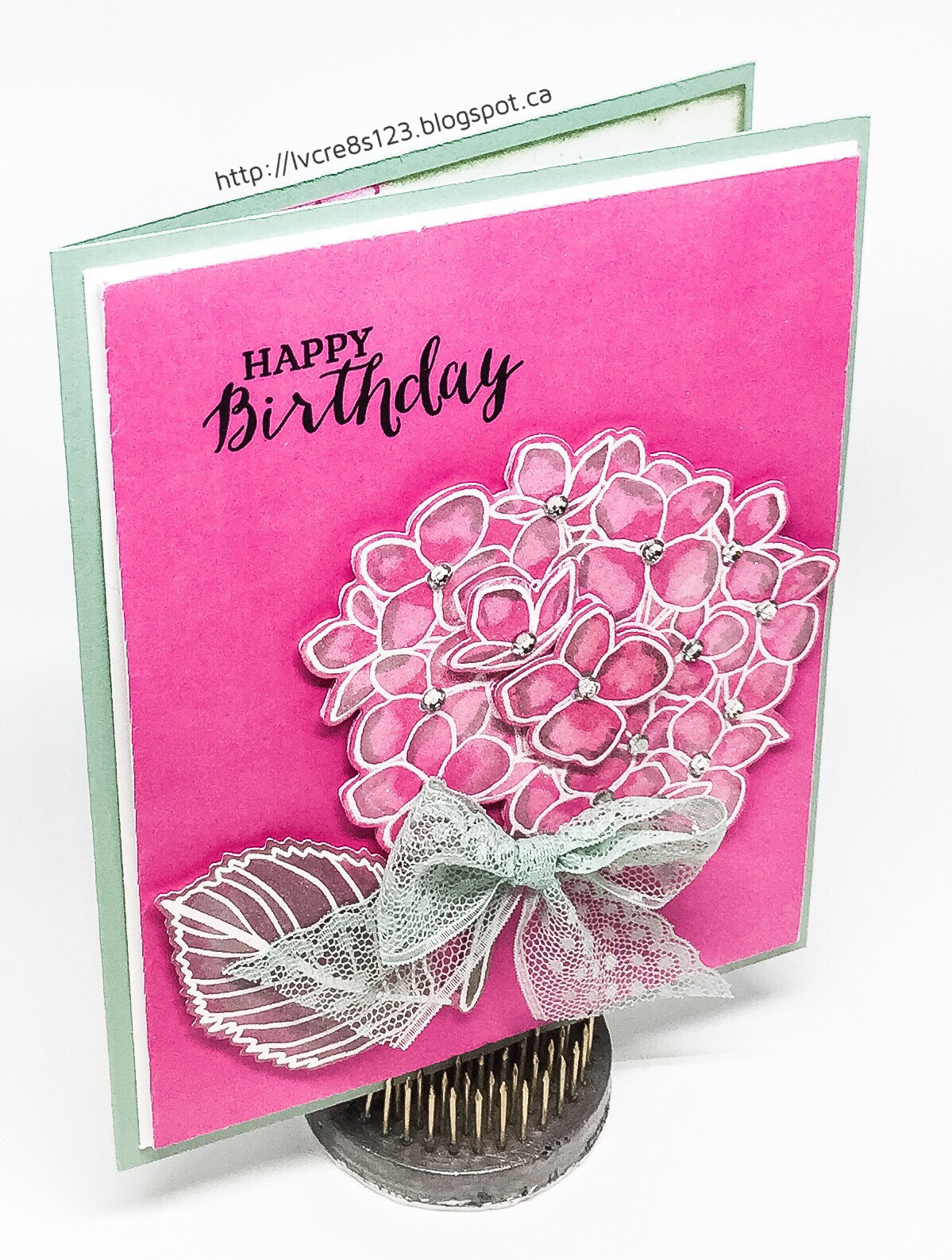 Linda Vich Creates Hydrangea Birthday Card – Birthday Card Create