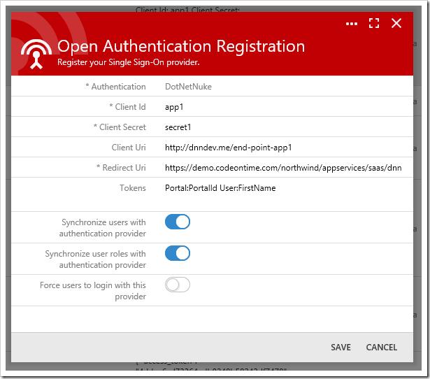 Configuring DotNetNuke OAuth Provider.