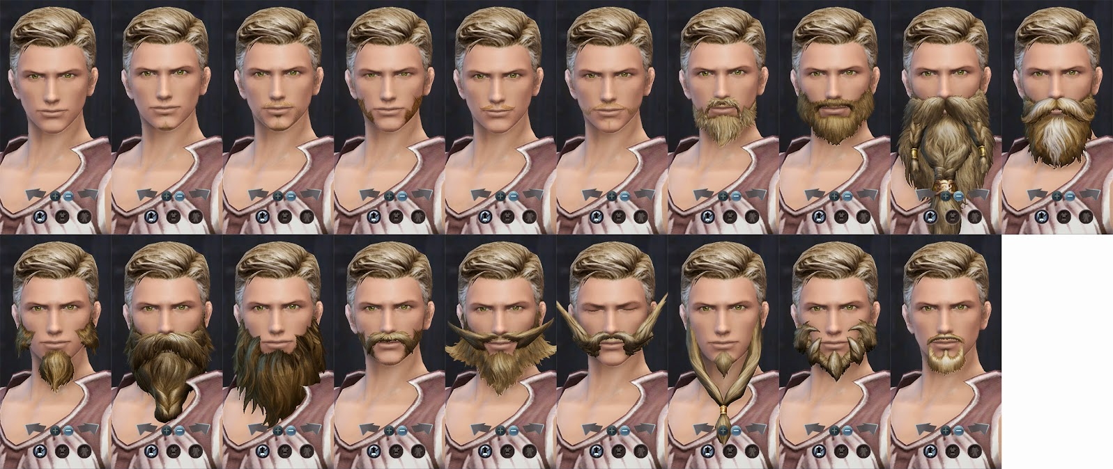 Aion Male Beards