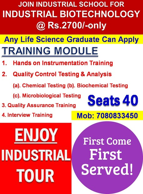 INDUSTRIAL BIOTECHNOLOGY TRAINING @ Rs.2700 (1)