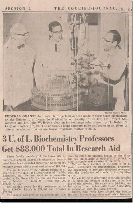 Professors Receive Research Aid_Courier Journal Louisville