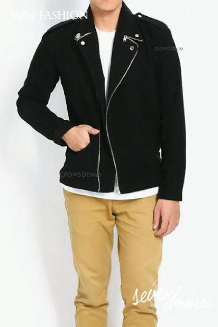 seven domu jacket korea double zipper sk08 4
