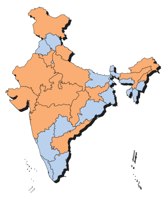 Political Parties By State Map.Geography Gk Notes Maps Current Affairs And News For All Classes