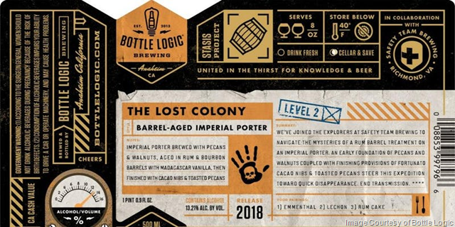Bottle Logic & Safety Team Brewing Collaborate On The Lost Colony