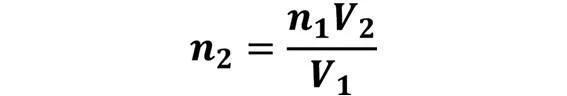 Las leyes de los gases: de boyle, de Charles, de Gay Lussac, de Avogadro y de Dalton - Despeje de la ley de Avogadro cuando se desconoce n2 pero se conoce n1, V1 y V2 - sdce.es - sitio de consulta escolar