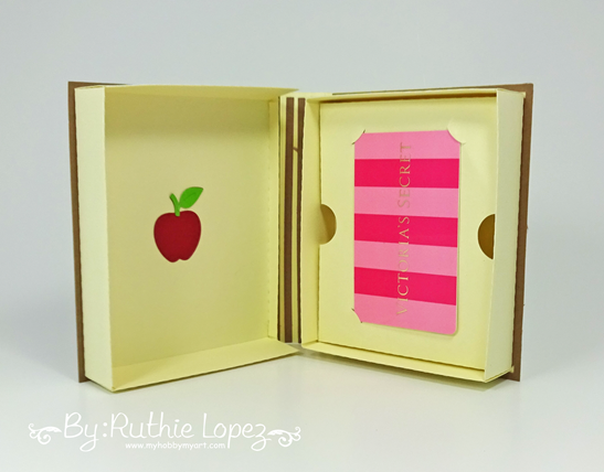 3d Book Box - SnapDragon Snippets - Star Stamps - Ruthie Lopez - Back to School 2