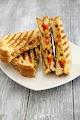 Grilled Corn And Capsicum Sandwich Recipe