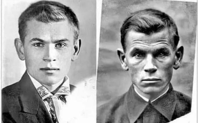 O rosto de um soldado antes e depois da guerra: 1941 - 1945!