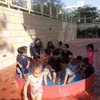 Water Play enjoyed by Nursery Section at Witty World, Bangur Nagar ( 2016-17 )