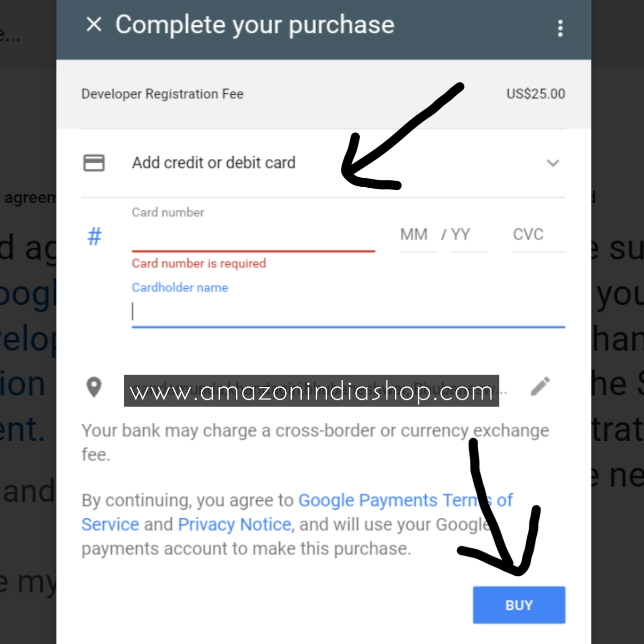 buy goole developer account with debit cards