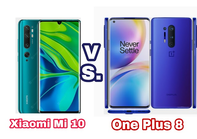 Xiaomi Mi 10 vs One plus 8 : Comparison,price  Specification.-1millionsfacts