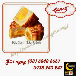 Bánh trung thu Givral Đậu Xanh Sầu Riêng