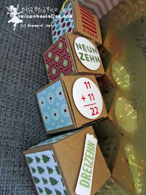 stampin up, adventskalender, advent calendar, 24 türchen, 25 days