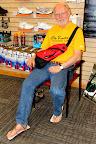 Bob Roncker wearing huaraches.