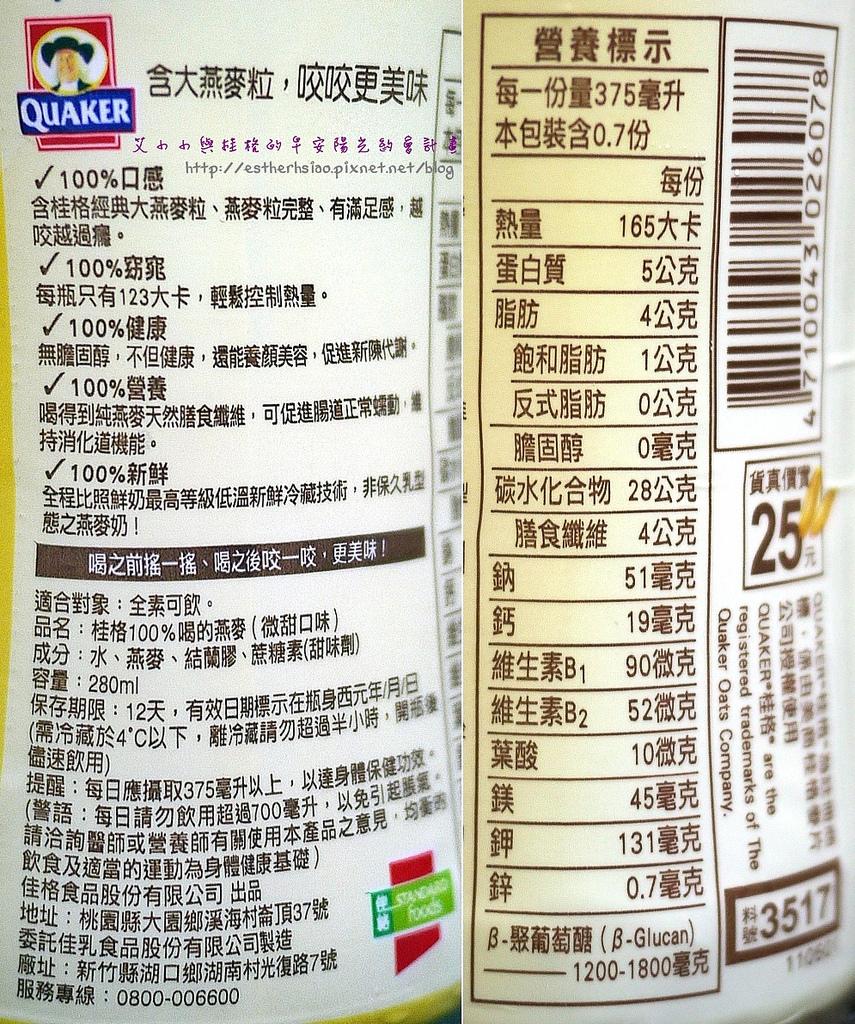 15 微甜口味營養成分