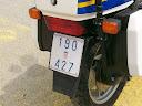 foto : registarska oznaka motora Policije RH