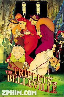 Bộ Ba Của Làng Người Đẹp - The Triplets of Belleville (2003) Poster