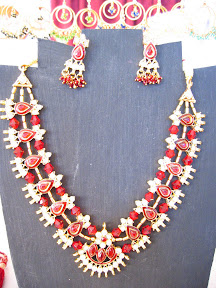 white and read Indian necklace $12.00