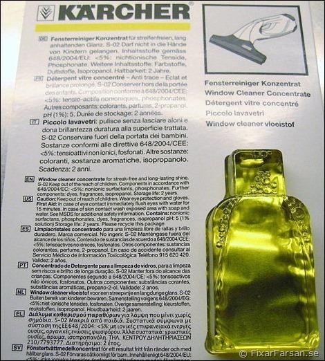 Kärcher-Fönstertvätt-Medel