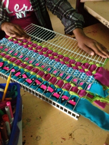 weaving with kids reusable materials woven wall hangings