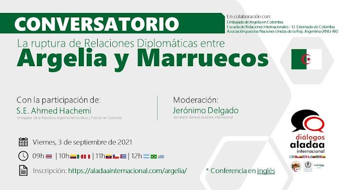 """""""La ruptura de las relaciones entre Argelia y Marruecos"""", tema central de una conferencia en la Universidad Colombiana del Externado, Bogotá."""