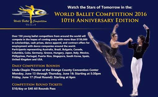 World Ballet Competition Continues in Orlando - Arts Win over Violence
