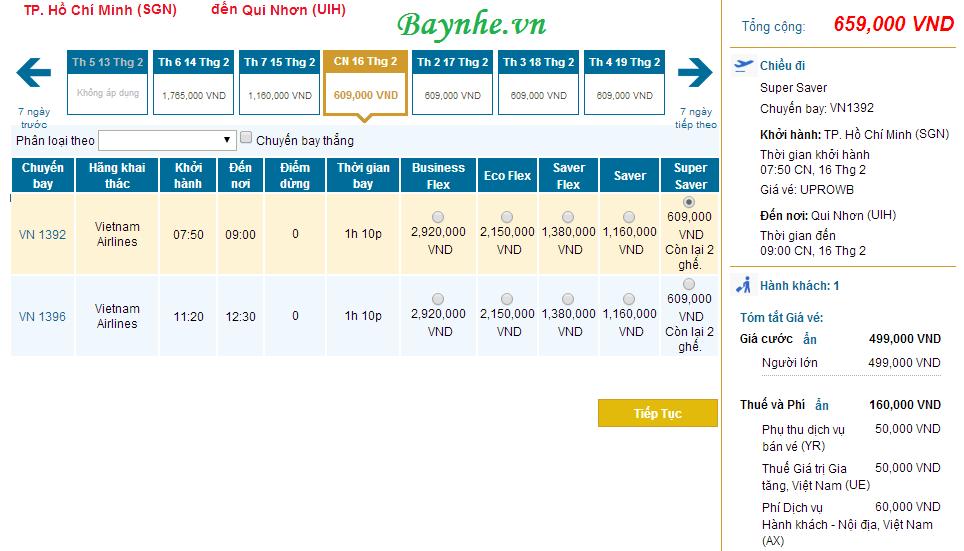 Vietnam Airlines bán vé rẻ bay Chu Lai, Quy Nhơn, Tuy Hoà, Buôn Ma Thuột