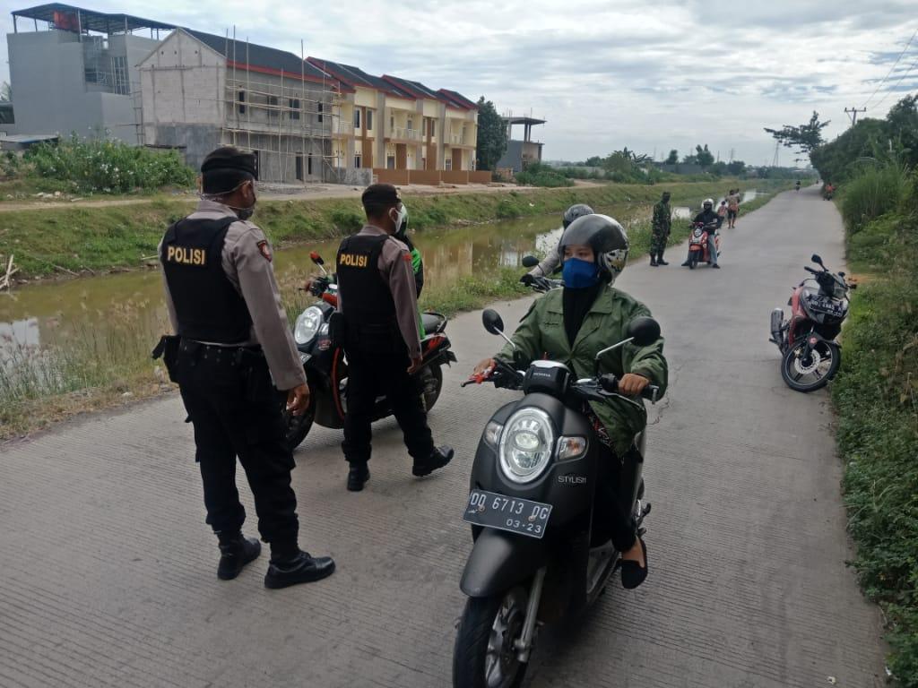 Tetapkan PSBB, Tim Patroli Satgas 1 Gencar Lakukan Patroli Di Kecamatan Somba Opu