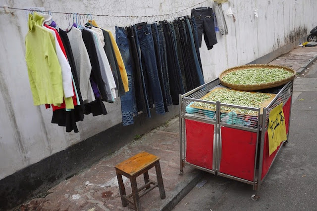 clothes for sale on Beizheng Street in Changsha, China